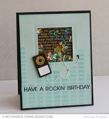 a paper melody have a rockin birthday shaker card