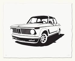 classic car print bmw 2002 turbo german colors love this print