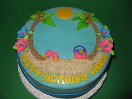 Tropical Themed Cake - tropical birthday cake