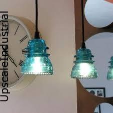 Aqua Pendant Light Telegraph Insulator Pendant Light Make Antique Lights Glass