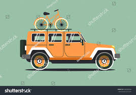 orange jeep vector modern retro orange jeep background stock vector 540036940
