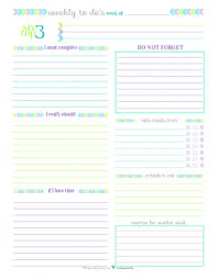 personal planner free printables