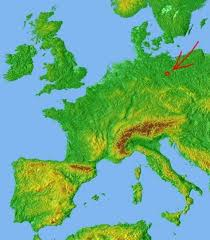 geographical map of germany german geography