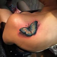 3d back shoulder butterfly by alex bruz designs