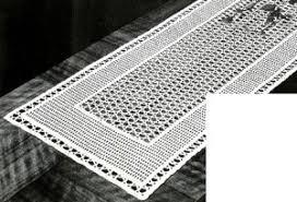 Crochet Table Runner Pattern Lacet Table Runner Free Crochet Pattern