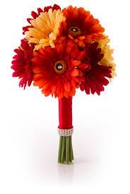 gerbera colors gerbera bridal bouquet in yellow orange simply