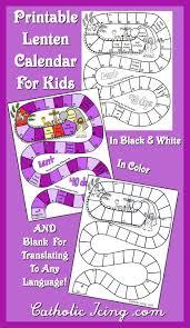 printable lenten calendar kids