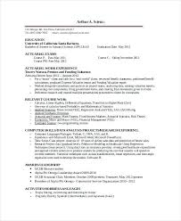 resume for internship template actuarial resume intern template internship sle
