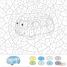 cartoon airplane color by number free printable coloring pages