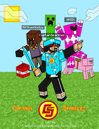 captainsparklez house in mianite captainsparklez fan art poster by invadermeen on deviantart