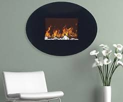 Electric Wallmount Fireplace Electric Wall Mount Fireplace Modern Fire Flame Deco Heater Oval