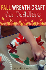 fall wreath craft for toddlers one mother to another