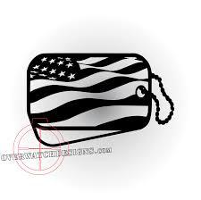 Waving American Flag Waving American Flag Dogtag Overwatch Designs