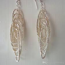 Designer Chandelier Earrings 2018 Superimposed Circle Designer Chandelier Earrings 925 Silver