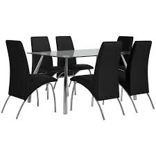 city furniture mensa black rectangular table u0026 4 uph chrs