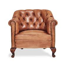 Brown Leather Tufted Sofa by Furniture Luxury Rlh Tufted Leather Club Chair