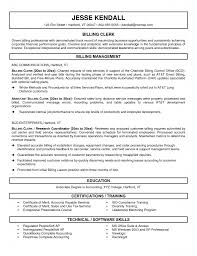 Sample Payroll Resume by Resume Billing Clerk Resume