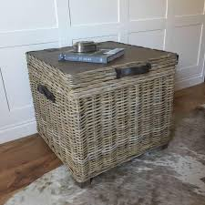 Storage Side Table Handcrafted Timber Rattan Storage Side Table U2013 Cowshed Interiors