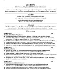 Ad Operations Resume Examples Of Resumes For Internships Resume Example And Free