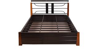 buy diamond queen size bed with hydraulic storage in black finish