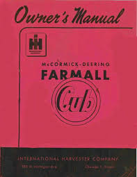 the farmall cub manuals a1tractormanuals