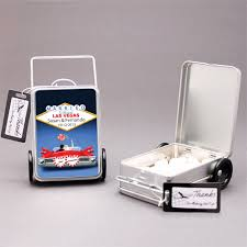 Suitcase Favors by Suitcase Favor Tins 12 Pcs Theme Wedding Favors