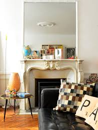 an unexpected spot to add color the fireplace apartment therapy
