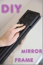 Bathroom Mirror Trim by Diy Bathroom Mirror Frame For Under 10 Blue Wood Stain Diy