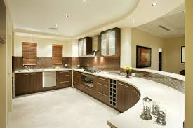 kitchen style white ceramic countertop and brown glass tile