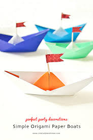 paper boats make perfect birthday party decorations creative