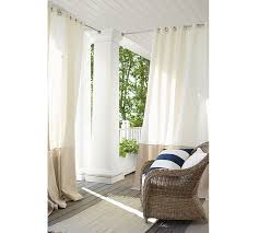 Outdoor Banded Drape Pottery Barn Inside Sheer Outdoor Curtains