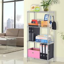 Metal Utility Shelves by Amazon Com Langria 4 Tier Wire Storage Rack And Shelving Unit
