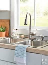 touch free kitchen faucets how to install a touchless kitchen faucet better homes gardens