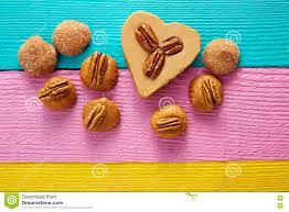 where to find mexican candy mexican candy cajeta heart with pecan stock photo image