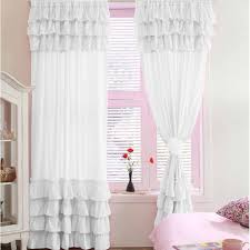 White Ruffled Curtains by Sassy Chic Window Ruffle Curtain Color White Get Any Size