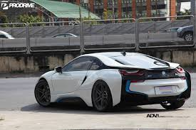 teal car white rims pearl white metallic bmw i8 with adv 1 wheels