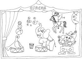 circus coloring pages bebo pandco