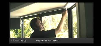 roller blind and bay window installation video youtube