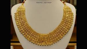 necklace designs images Latest gold necklace designs with weight gold raniharam designs jpg