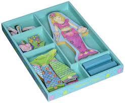 amazon com melissa u0026 doug merry mermaid wooden dress up doll and