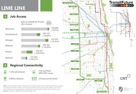 Chicago Transit Authority Map by Lime Line Transit Future