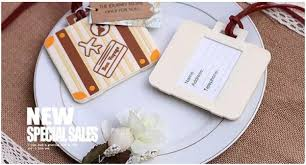 luggage tags wedding favors 100pcs lot newest let the journey begin vintage suitcase luggage