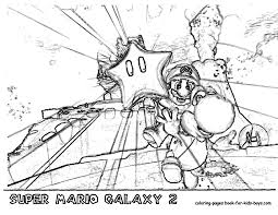 mario galaxy 2 coloring page at super pages eson me