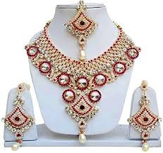 ladies necklace sets images Jewels gold american diamond gold plated latest designer ladies jpg