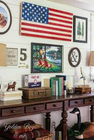 American Flag Living Room by Summer Gallery Wall With Diy Flag Sign Gallery Wall Walls And