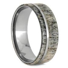 deer antler wedding band titanium deer antler wedding band for men size 12 75 rs9605