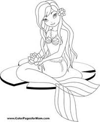 realistic mermaid coloring pages drawings