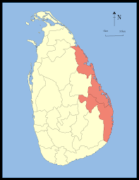Map Of Sri Lanka Eastern Province