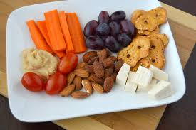 how to make a vegan snack plate with blue almonds clean