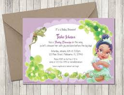 frog baby shower princess and the frog baby shower invitations baby shower